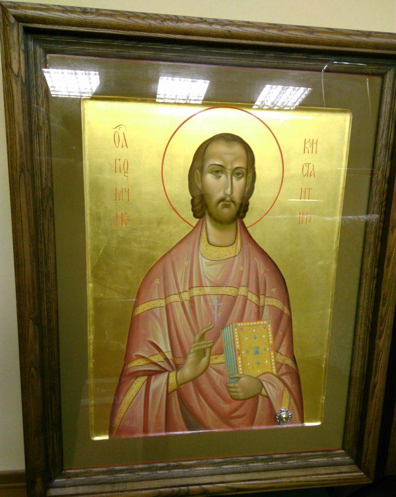 В нашем храме появилась новая икона с частицей мощей сщмч. Константина Меркушинского