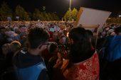 В сотую годовщину мученического подвига Царской семьи Предстоятель Русской Церкви совершил литургию на площади перед Храмом на Крови в Екатеринбурге