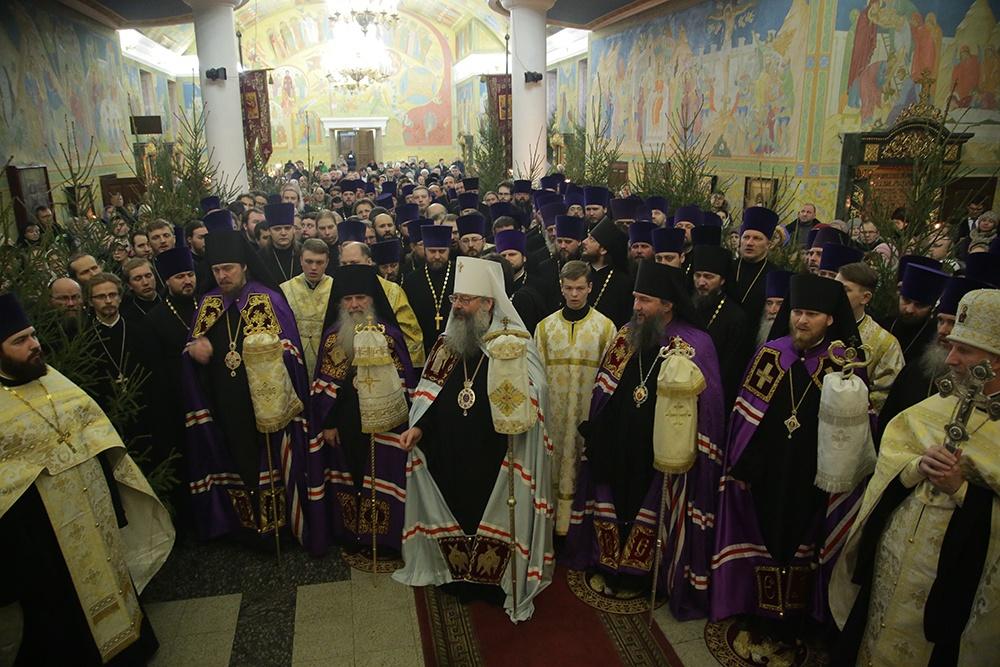 Архиерейская Рождественская вечерня состоялась в Свято Троицком кафедральном соборе