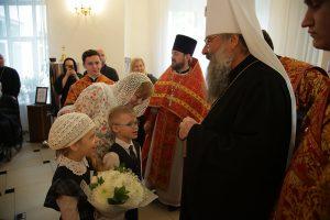 В день памяти святых Кирилла и Мефодия митрополит Кирилл совершил Божественную литургию в нашем храме