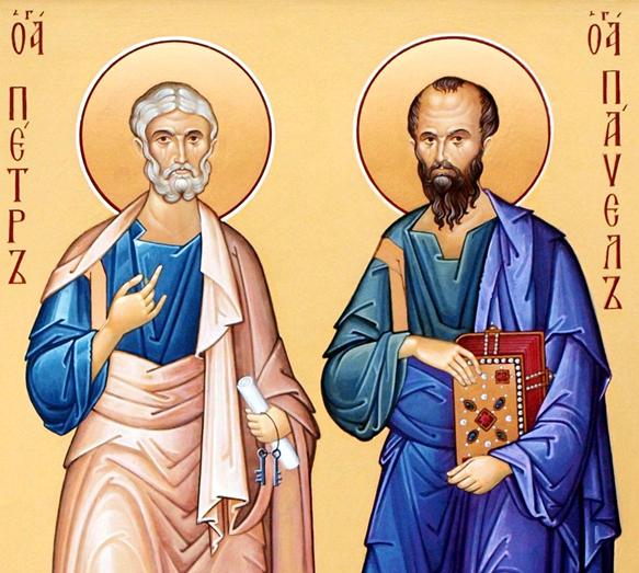 Славных и всехвальных   первоверховных апостолов Петра и Павла